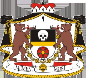 Erb Rožmberského řádu lebky