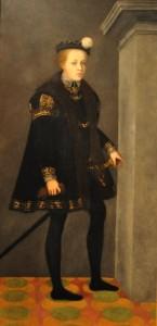 Portrét Petra Voka z Rožmberka v dětském věku 13 let
