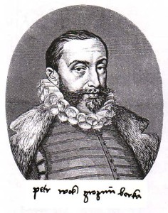 Grafický list s portrétem Petra Voka z Rožmberka ze 16. století