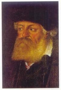 Portrét Petra Voka z Rožmberka (výřez) v kmetském věku od neznámého autora