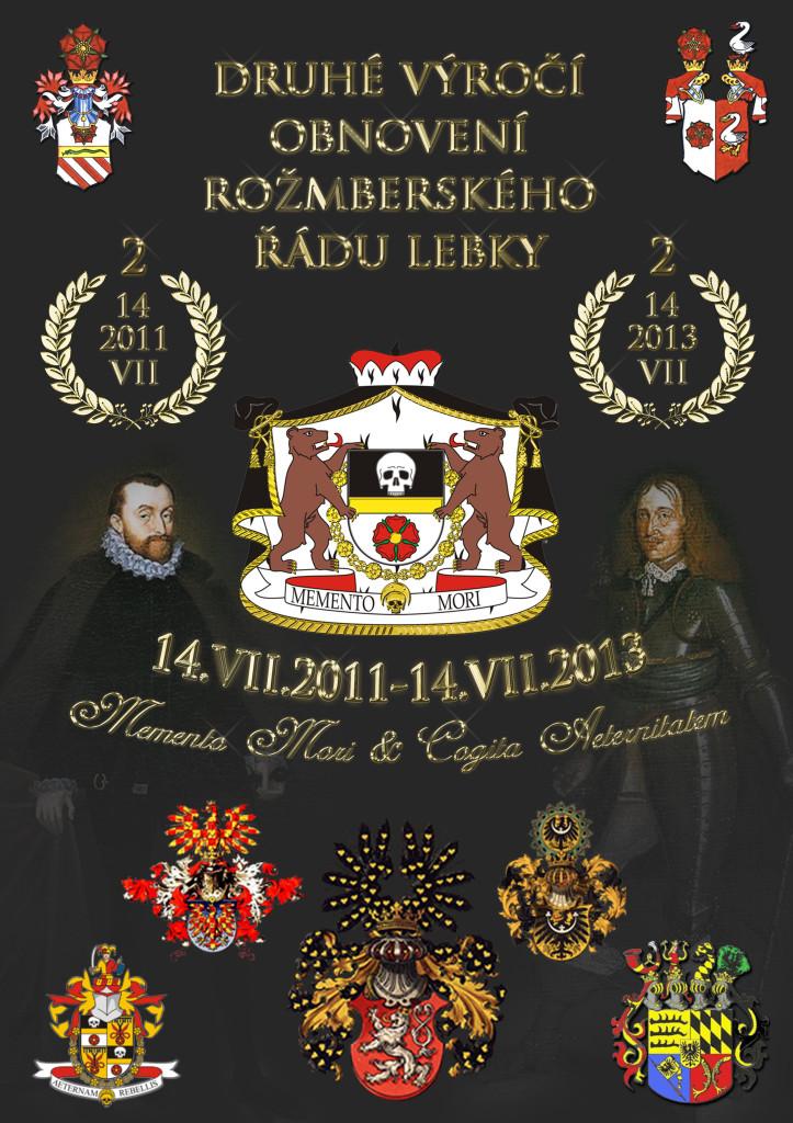 Plakát k druhému výročí řádu
