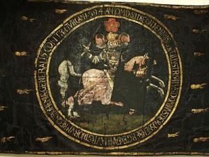 Pohřební prapor Petra Voka z Rožmberka z roku 1611