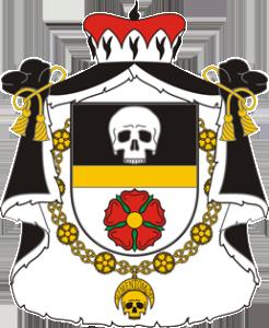 Malý znak Rožmberského řádu lebky