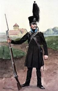 Voják württembersko-olešnického pluku