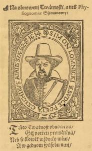 portrét Šimona Lomnického ve věku 62 let, rok 1614, ilustrace ze sborníku, uloženém v NKP pod sign. D.152