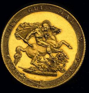 Anglický zlatý sovereign, první ročník 1873