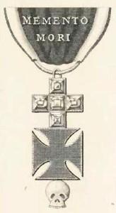 Jediné dochované vyobrazení vyznamenání Řádu lebky